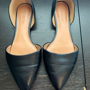 J. Crew Black Pointed Flats Size 6